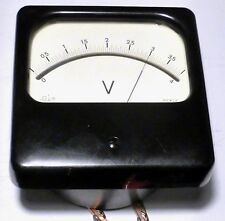 Voltmétre de laboratoire grande dimension 12,5 cm x 12,5 cm