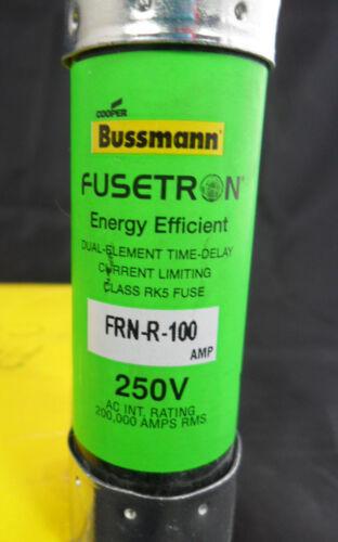 New Lot Bussmann FRN-R-100 Amp Fuses Energy Efficient Class RK5 250 Volt NIB