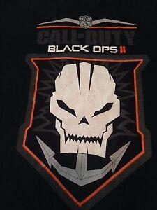 Black Ops 2 Call Of Duty T Shirt Tee Skull Anchor Black Game Logo