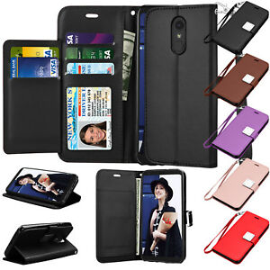 sale retailer a3b44 54b8e Details about For LG Stylo 4 / LG Stylus 4 Leather Flip Wallet Case  Magnetic Protective Cover