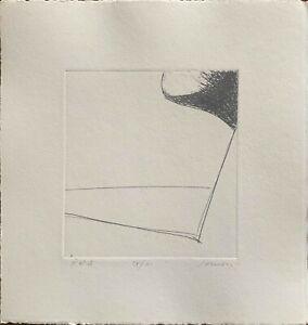 Franco Sarnari  incisione acquaforte S.T.  24x23 firmata numerata perfetta