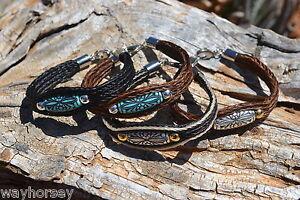 100% tressé crin de cheval long Bead Bracelet - 3 Strand Avec Fermoir-différentes couleurs-afficher le titre d`origine AsythqoS-07143340-810612442