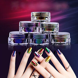 Image Is Loading 6colors 0 2g Chameleon Chrome Powder Nails Duo