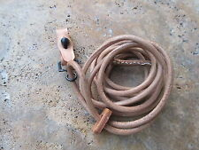 Wehrmacht P08 Luger Leather Lanyard Leder Fangband Pistol Colt FJ WH WK2 WWII
