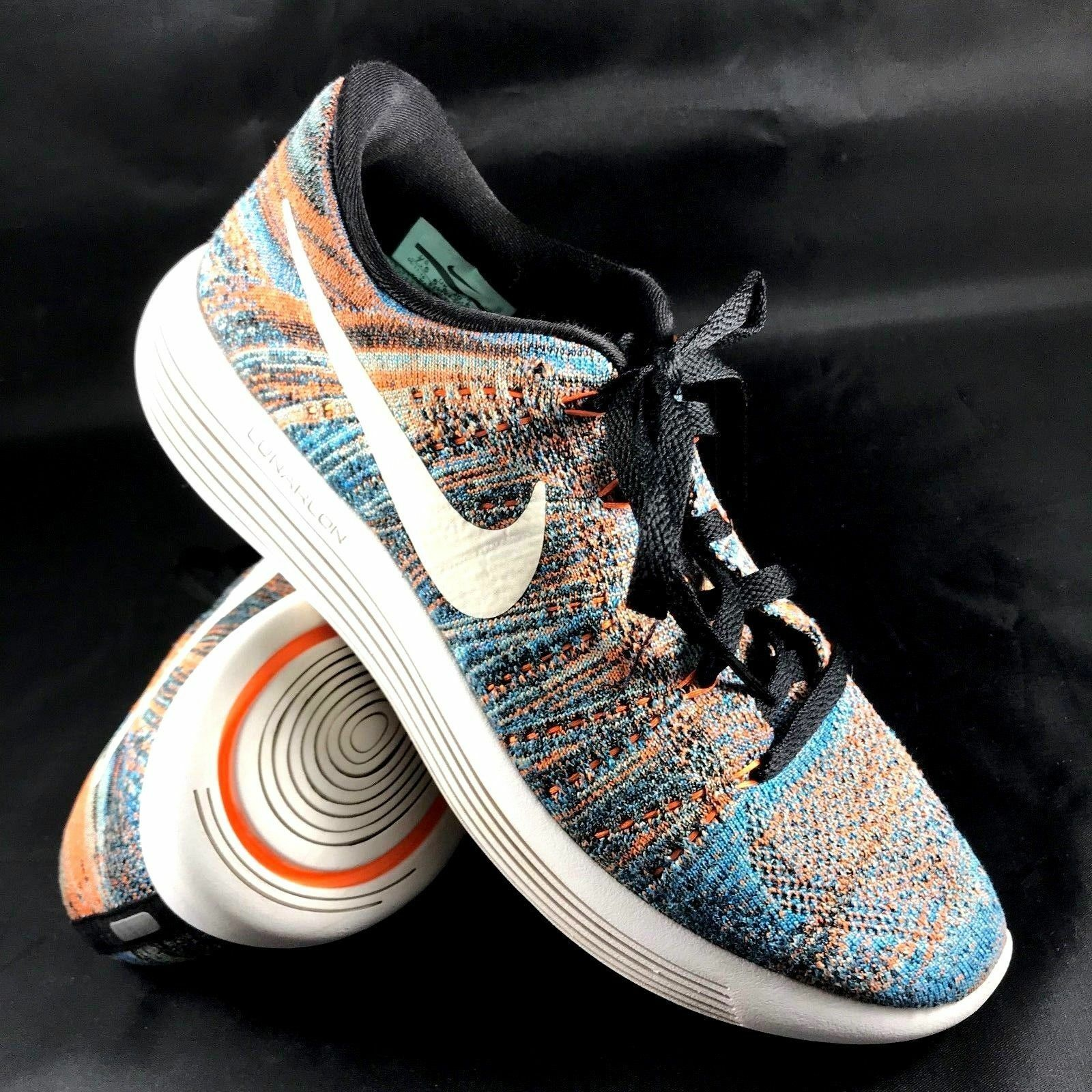 a41190b67ad988 Nike LunarEpic Low Flyknit Multi-color bluee orange 843764 003 Sizes 7.5