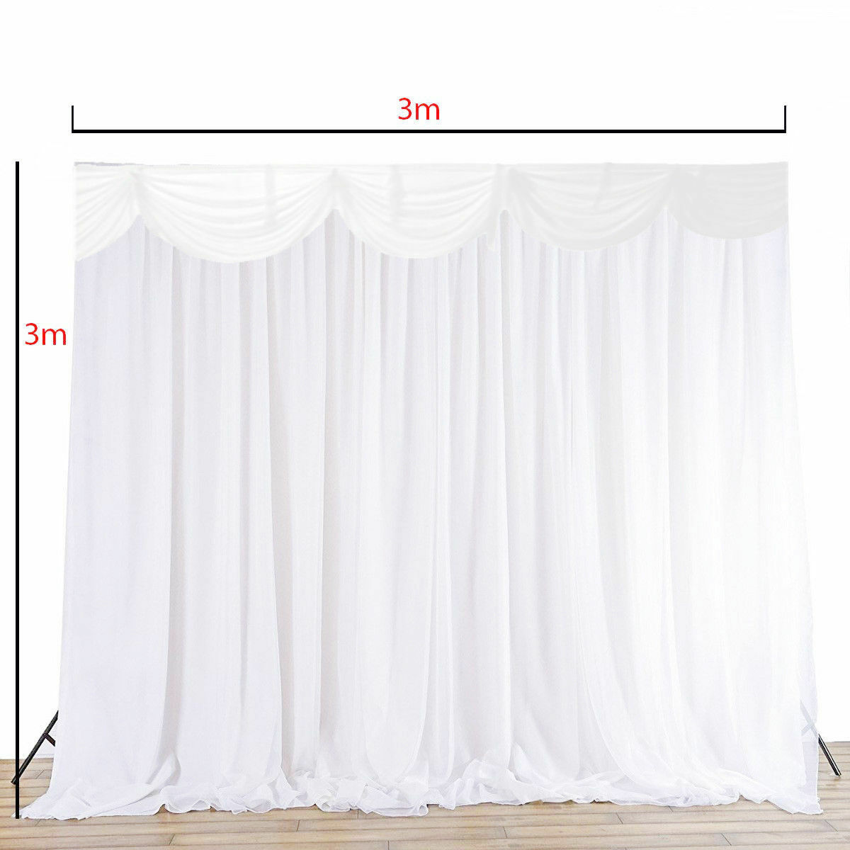 Weiß Hintergrund Vorhänge Girlande Eis Seide Hochzeits Ereigniss Ereigniss Ereigniss Dekoration | Offizielle  | Authentisch  | Zart  ee0e97
