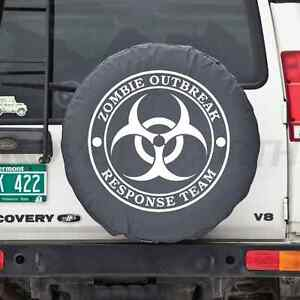 Universal Black Zombie Breakout Response Team Spare Tire Cover New
