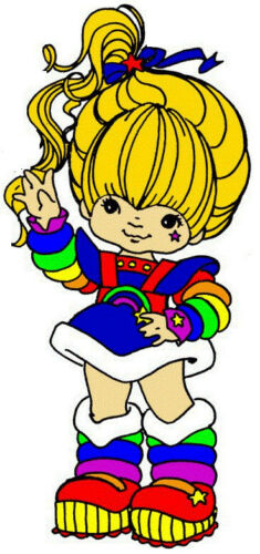 Rainbow brite wall safe sticker border cut out 7 to 10.5 inch