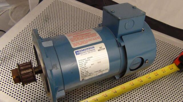 Emerson DC Motor WC0332 G637 Field PM HP 1/3 RPM 1750 Frame 56c