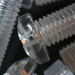 20-x-Acrilico-Bulloni-e-Dadi-M12-x-40mm-in-Plastica-Trasparente-Acrilico-Viti