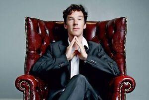 Modern Postcard Sherlock Holmes Benedict Cumberbatch Doyle Art Russian Unposted