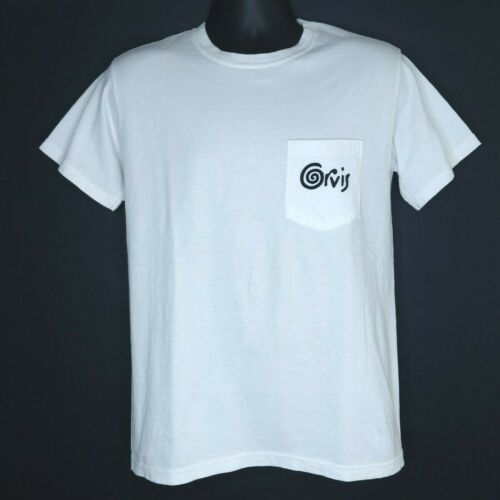 NEW Orvis Mens Size Small S White Short Sleeve Pocket Tee Graphic Crew T Shirt