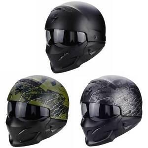 scorpion exo combat military street urban motorcycle open face modular helmet ebay. Black Bedroom Furniture Sets. Home Design Ideas