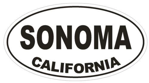 Sonoma California Oval Bumper Sticker or Helmet Sticker D2840 Euro Oval