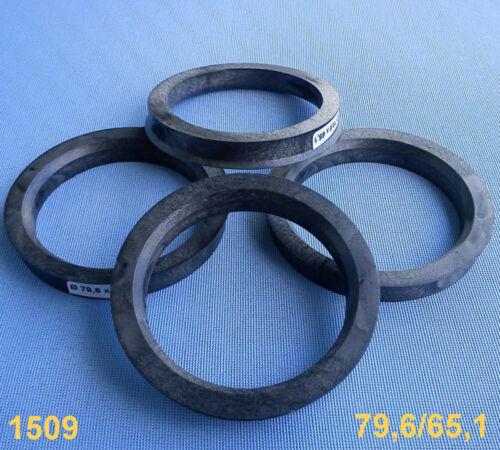 4x anelli di centraggio 79,6//65,1 mm per cerchi in lega 1509
