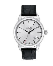 Bulova Accu Swiss Men's 63B173 Gemini Swiss Automatic Leather Strap 42mm Watch