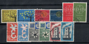 Pays-Bas-1956-62-Oblitere-80-Europe-Cept