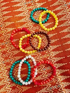Colorful Natural Dyed Jade Healing Bracelets: joy, happiness, luck, friendship,