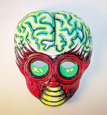 vintage 1970s metaluna mutant vacuform plastic halloween mask