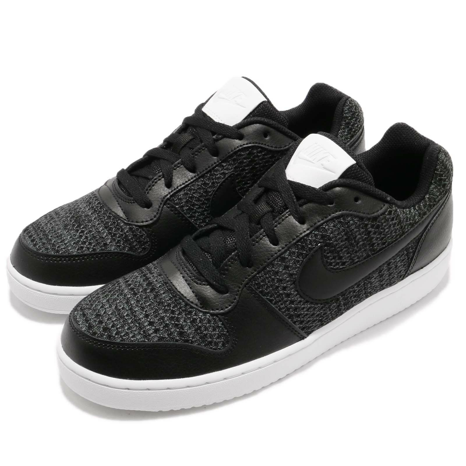 Nike Ebernon Low PREM Premium Noir Blanc Homme Casual Chaussures Sneakers AQ1774-001
