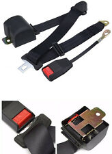 Black Adjustable 3-Point Automobile Seat Belt Bolt Extension Buckle Safety Strap