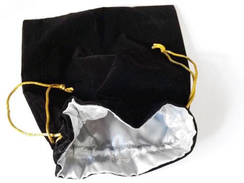 """18/"""" Bondage Collar Black Eternity Style Restraint w// Velvet Bag"""