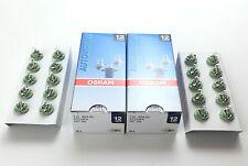 20 x OSRAM LAMPE 2722MFX 12V 2W 12 VOLT 2 WATT BX8,5D GRÜN INNENRAUMLAMPE