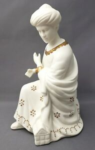 Centurion Collection Bisque Christmas Nativity R287 Kneeling Wiseman King Gold