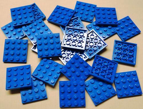 x25 NEW Lego Blue Plates 4x4 Brick Building Blue Baseplates