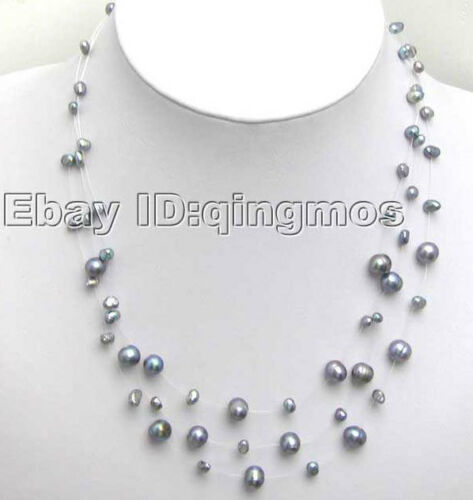 White 6-7mm Natural Freshwater Pearl Necklace for Women Starriness 20 Strands