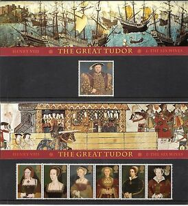 GB-1997-Henry-VIII-The-Great-Tudor-amp-The-Six-Wives-Presentation-Pack-274