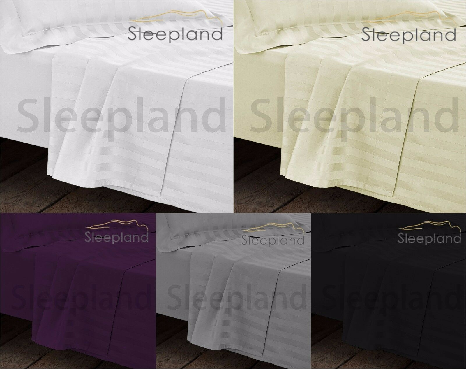 Egyptian Cotton 1000TC DOUBLE Fitted Sheet Flat Sheet & 2 Pillowcase BEDDING SET