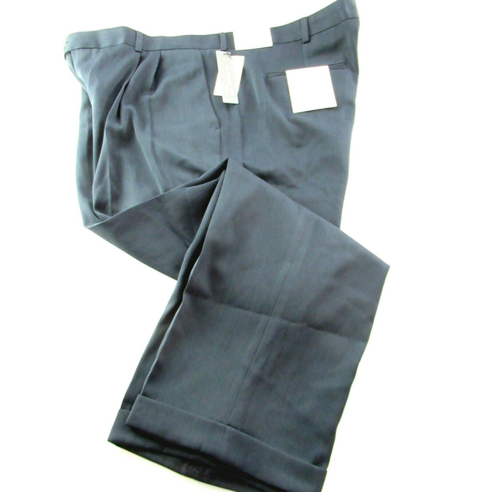 NEW Perry Ellis No Iron Travel Dress Pants Mens 38 x 32 Twilight bluee NWT