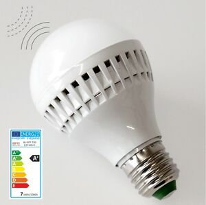 7w led radar lampe birne e27 mit bewegungsmelder sensor lampe ebay. Black Bedroom Furniture Sets. Home Design Ideas