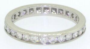 Platinum-elegant-high-fashion-1-0CT-VS-diamond-eternity-band-ring-size-5-25