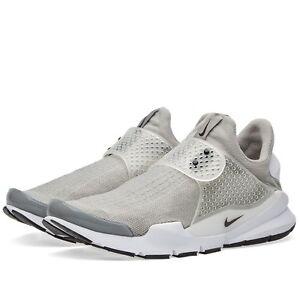 factory authentic bc428 b22cc Image is loading Nike-Sock-Dart-Medium-Grey-Black-White-819686-