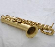 Professional Taishan Matt Brush Brass Baritone sax Eb Saxophone Low A Key +Case