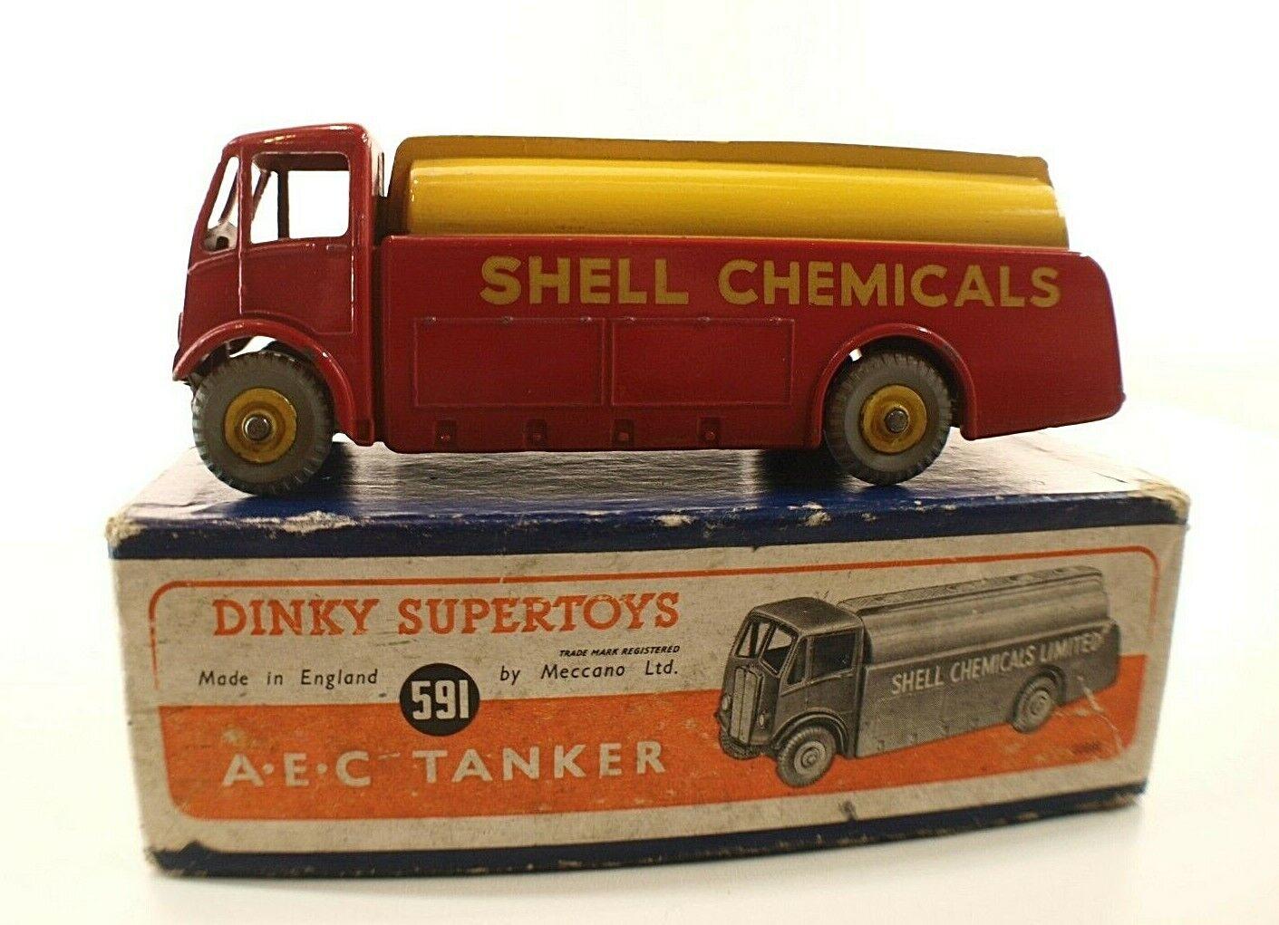 Dinky Spielzeug GB Nr°991 Aec Monarch Tankwagen Shell Chemikalien Lkw Tank Box