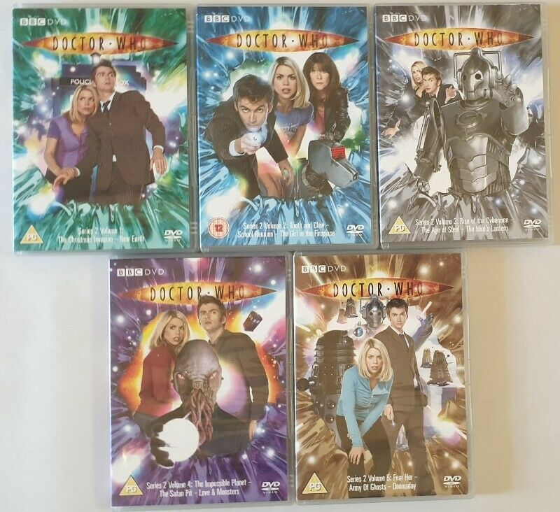Doctor Who Series 2 Vol. 1-5 DVDs