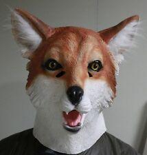 Fox Mask Movie Quality Foxy Animal Dog Cat Feline Latex Fancy Dress Stag Party