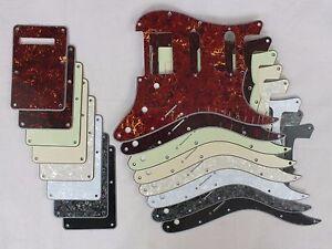 HSS-RAYURE-PLAQUE-PICKGUARD-Ensemble-pour-USA-Mex-Stratocaster-Strat-coloris-8