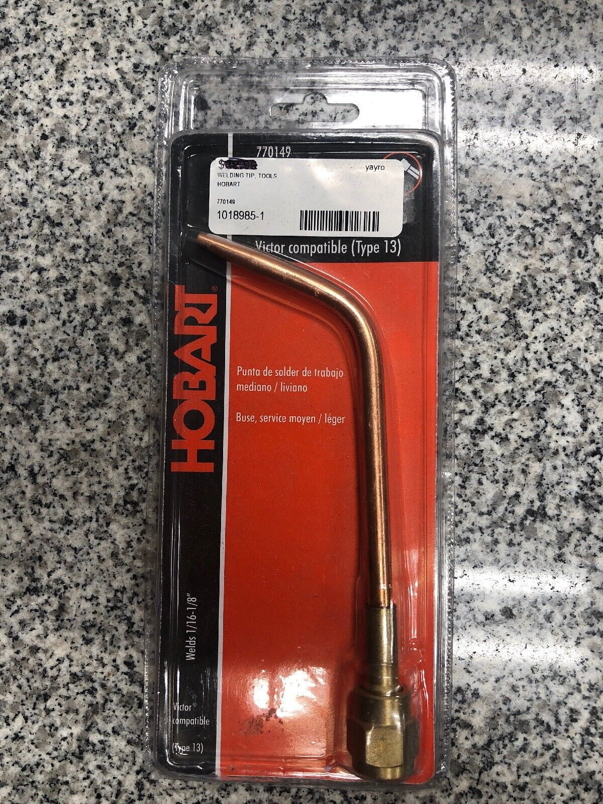 Hobart 770149 Oxy/acet Tip Welding 2 Repl 3 Victor Gas Torches Welders  Cutters