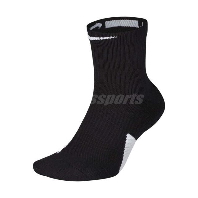 Nike Elite Cushioned Dri-fit Ankle Length Socks Men's Size M Black/white
