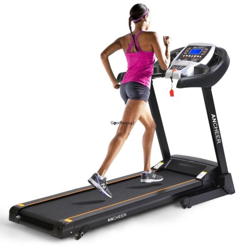 ANCHEER 2019 1600W Folding Treadmill Electric Support Motorized Running Fitness