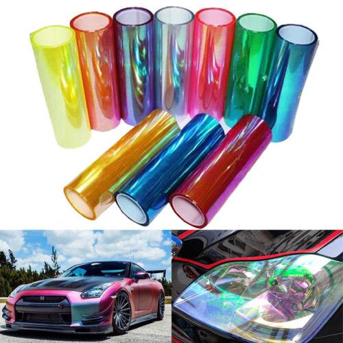Chameleon Color Changing Tint Vinyl Wrap Sticker Headlight Film Car Light LampUK