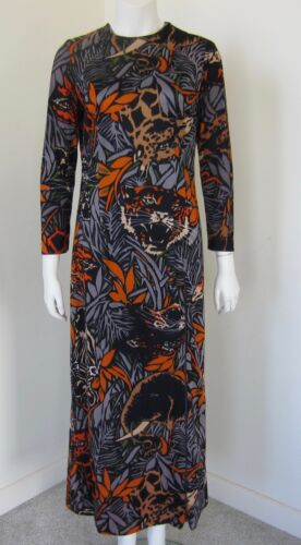 Vintage SERBIN Animal Jungle Print Dress Size 12