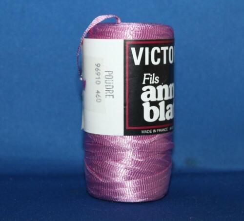 VICTORIA by anny blatt 100/% Nylon Polyamide Ribbon Yarn 50g 109yd 460 Poudre