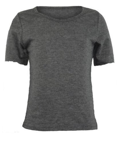 PAPAVAL KCST Kids Girls Boys Plain Cap-Sleeve Crew Uniform Jumper T-Shirt Tops