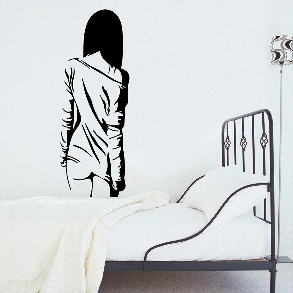 Wall Sticker Sexy Naked Girl Women Teen Bedroom Vinyl Decals