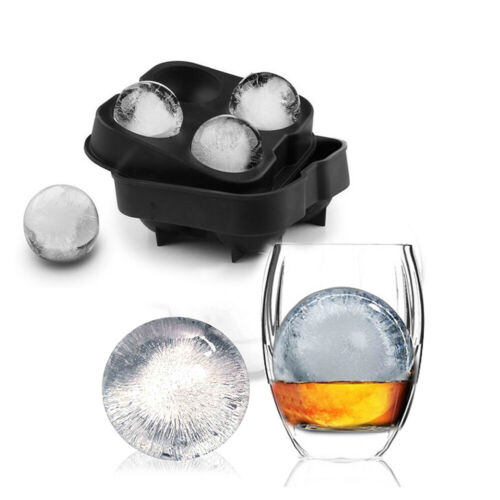 Round Ice Cube Ball Tray Silicone Sphere Mold Ice Maker for Whiskey Cocktails